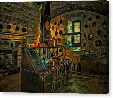 Medieval Kitchen Canvas Print