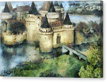 Medieval Knight's Castle Canvas Print by Sergey Lukashin