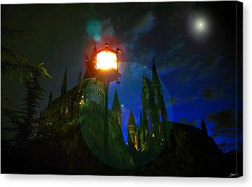 Medieval Night Canvas Print by David Lee Thompson