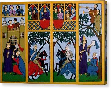 Medieval Scene Canvas Print by Stephanie Moore