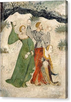 Medieval Snowball Fight Canvas Print by Maestro Venceslao