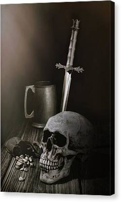 Medieval Still Life Canvas Print by Tom Mc Nemar