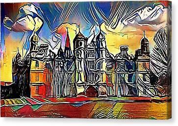 Medieval Tower Of A Tudor Hever Castle In England - My Www Vikinek-art.com Canvas Print by Viktor Lebeda