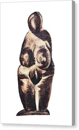 medieval Venus - fertility symbol Canvas Print by Michal Boubin