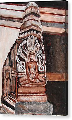 Canvas Print featuring the painting Meditating Buddha 10 by Anand Swaroop Manchiraju