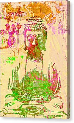 Bodhisattva Canvas Print - Meditating Buddha  by Brian Broadway