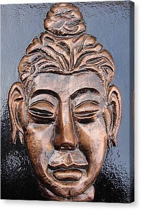 Meditating Buddha Canvas Print by Rajesh Chopra