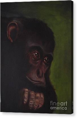 Canvas Print featuring the painting Meditation by Annemeet Hasidi- van der Leij