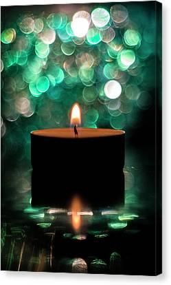 Meditation Candle Canvas Print by Plamen Petkov
