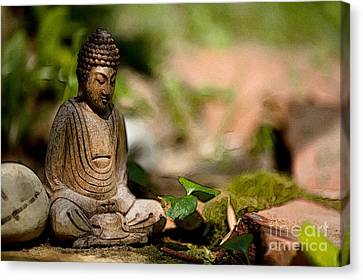 Meditation Canvas Print by Jean Bernard Roussilhe