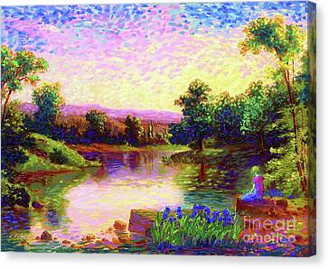 Impressionist Landscape Canvas Print -  Meditation, Just Be by Jane Small