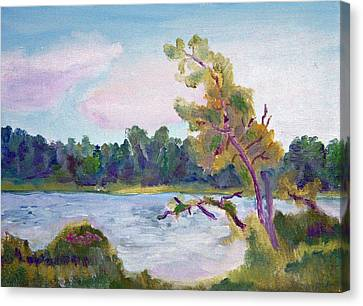 Meditation Lake  Canvas Print