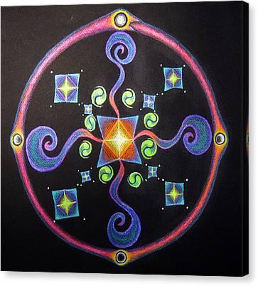 Meditation On Releasing  Canvas Print by Janelle Schneider