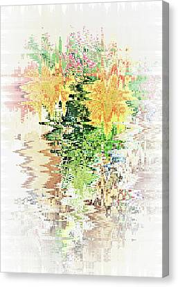 Meditation Pond Canvas Print by Ann Johndro-Collins