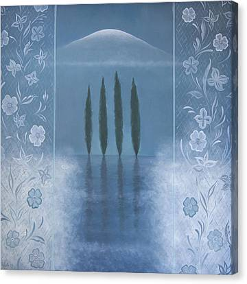 Canvas Print featuring the painting Meditation by Tone Aanderaa