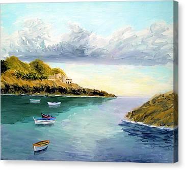 Mediterranean Bay Canvas Print
