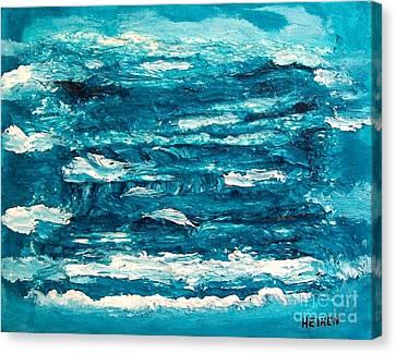 Mediterranean Blue Green Canvas Print by Marsha Heiken