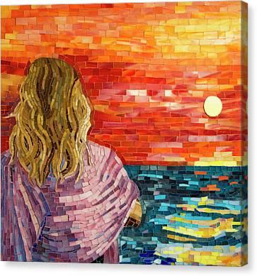 Mediterranean Sunset Detail Canvas Print