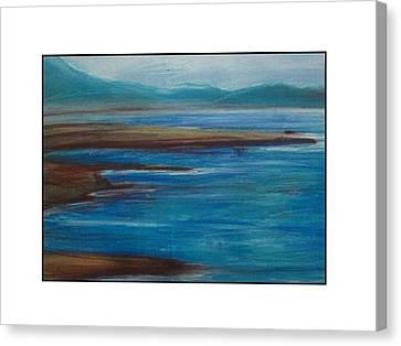 Mediterranean View Canvas Print by Angela Puglisi