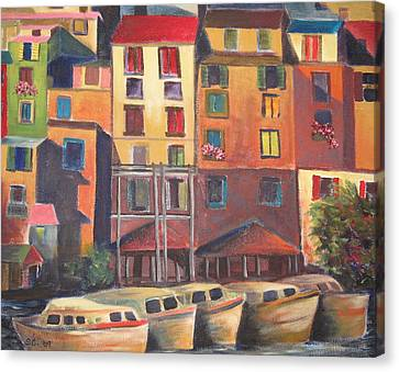 Mediterranean Waterfront Canvas Print