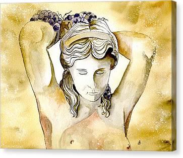 Meditrina Goddess Of Wine Canvas Print by Brenda Owen