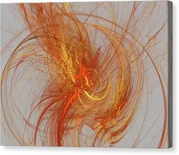 Medusa Bad Hair Day - Fractal Canvas Print by Menega Sabidussi