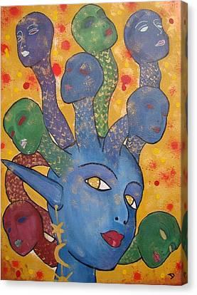 Medusa Canvas Print by Diana Chitu