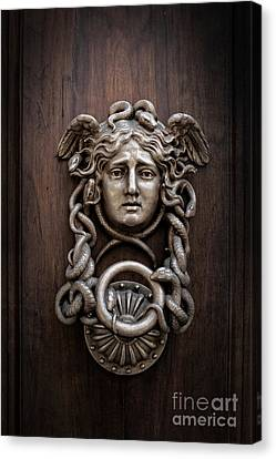 Medusa Head Door Knocker Canvas Print by Edward Fielding