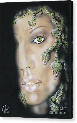 Medusa Canvas Print by John Sodja