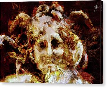 Medusa Canvas Print by Maximiliano Esposito