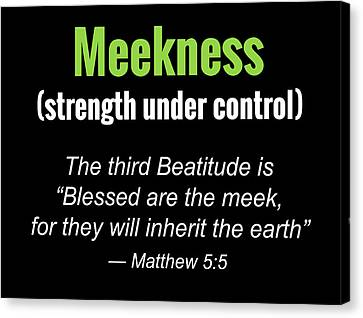 Meekness Canvas Print