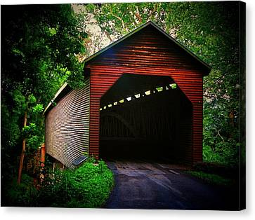 Meem's Bottom Covered  Bridge Canvas Print by Joyce Kimble Smith