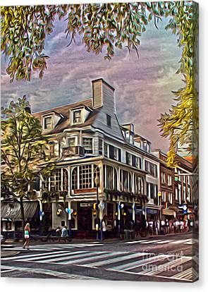 Penn State University Canvas Print - Meet Me At The Corner by Tom Gari Gallery-Three-Photography