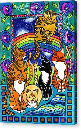 Meet Me At The Rainbow Bridge - Cat Painting Canvas Print