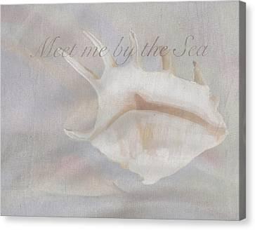 Meet Me By The Sea Canvas Print by Brad Burns