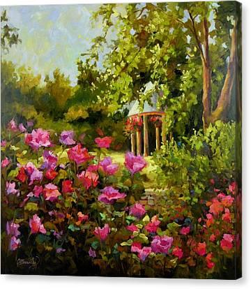 Meet Me In The Garden Canvas Print by Chris Brandley