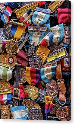 Canvas Print featuring the photograph Meet Medals by Christopher Holmes