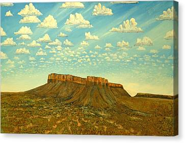 Meet The Posse At Little Crooked Mesa Canvas Print