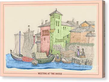 Meeting At The Docks Classic Canvas Print by Donna Munro