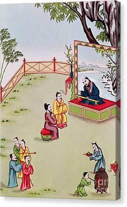 Meeting Between Confucius And Lao Tzu Canvas Print