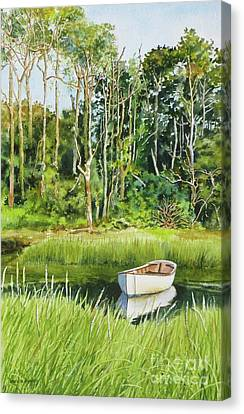 Meeting House Pond Canvas Print by Karol Wyckoff