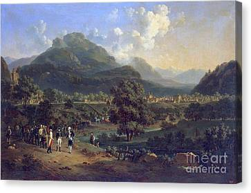 Leoben Canvas Print - Meeting Of Napoleon With The Ambassadors by MotionAge Designs