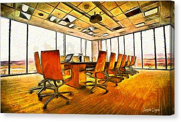 Meeting Room - Da Canvas Print by Leonardo Digenio