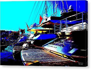 Mega Yachts Canvas Print by Rogerio Mariani
