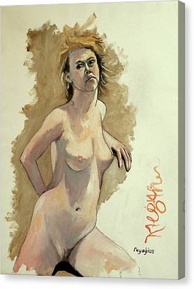 Canvas Print featuring the painting Megan by Ray Agius