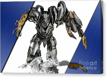 Megatron Transformers Collection Canvas Print by Marvin Blaine