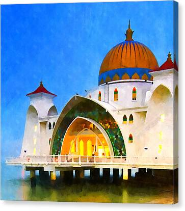 Middle East Canvas Print - Melaka Straits Mosque by Stacey Chiew