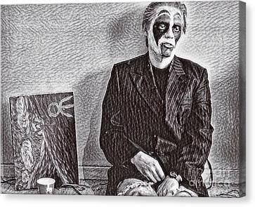 Melancholy Mime  Canvas Print by John Malone