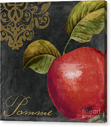 Melange Apple Pomme Canvas Print by Mindy Sommers