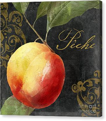 Melange Peach Peche Canvas Print by Mindy Sommers